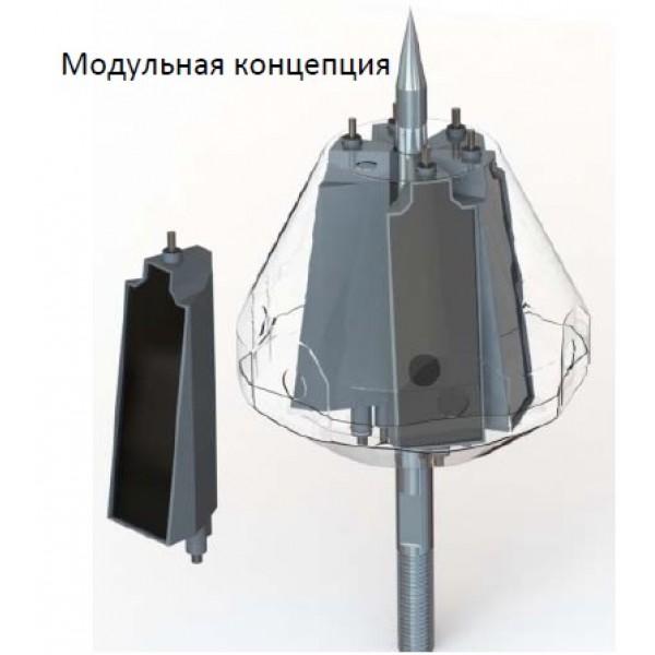 Активный молниеприемник INDELEC PREVECTRON 3 S60 (радиус защиты до 100 метров)