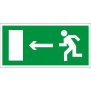Эвакуационный указатель наклейка ПЭУ 001 - Выход налево (250х115) мм