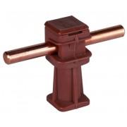 Держатель проводника круглого 6-10 мм коричневый, высота 36 мм, пластик