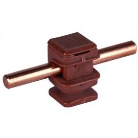 Держатель проводника круглого 6-10 мм коричневый, высота 16 мм, пластик