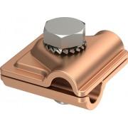 Держатель проводника круглого 6-10 мм для фальца 0.7-3 мм, сталь