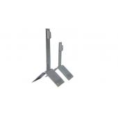 Держатель проводника круглого 8-10 мм для конька, высота 110 мм, оцинкованная сталь