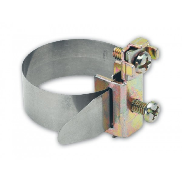 Хомут заземления ленточный 5-25 мм, нержавеющая сталь
