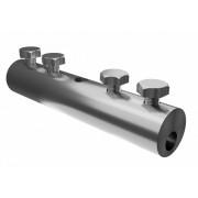 Сквозной дырочный соединитель для прутка для молниезащиты и заземления - сталь горячеоцинкованная, диаметр 5-10 мм
