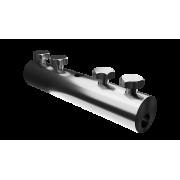 Сквозной дырочный соединитель для прутка для молниезащиты и заземления - сталь с гальваническим покрытием, диаметр 5-10 мм