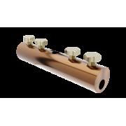 Сквозной дырочный соединитель для прутка для молниезащиты и заземления - медь/латунь, диаметр 5-10 мм