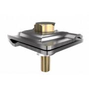 Универсальный соединитель проводника 40*40 мм, проводник 4-8 мм, горячеоцинкованная сталь