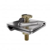 Универсальный соединитель проводника 40*40 мм, проводник 4-8 мм, сталь с гальваническим покрытием