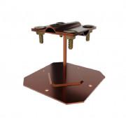 Приклеиваемый держатель проводника, высота 9 см, основание 10*10 см, проводник 4-10 мм, медь/латунь