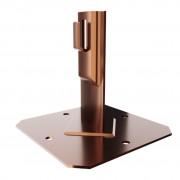 Приклеиваемый держатель проводника со скобою, высота 15 см, основание 10*10 см, проводник 4-10 мм, медь/латунь