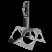Коньковый держатель проводника круглого, высота 9 см, проводник 4-10 мм, сталь с гальваническим покрытием