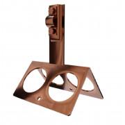 Коньковый держатель проводника круглого, высота 9 см, проводник 4-10 мм, медь