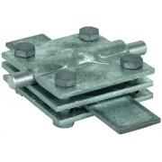 Зажим заземления стержень - полоса-пруток крестообразный, оцинкованная сталь