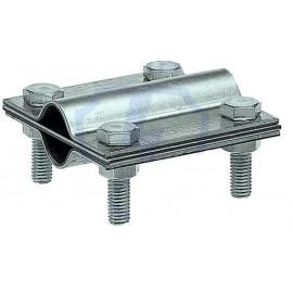 Зажим заземления стержень - стержень крестообразный, оцинкованная сталь